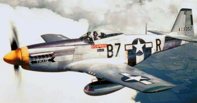 P-51D Mustang aircraft 'Tika IV' of the US Army 361st Flight Group, Jul-Dec 1944.