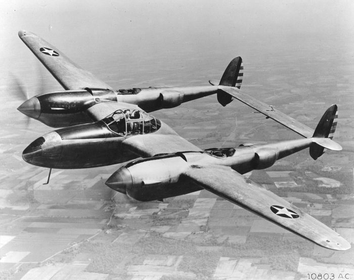 One of the early YP-38s, constructed for evaluating the airframe.