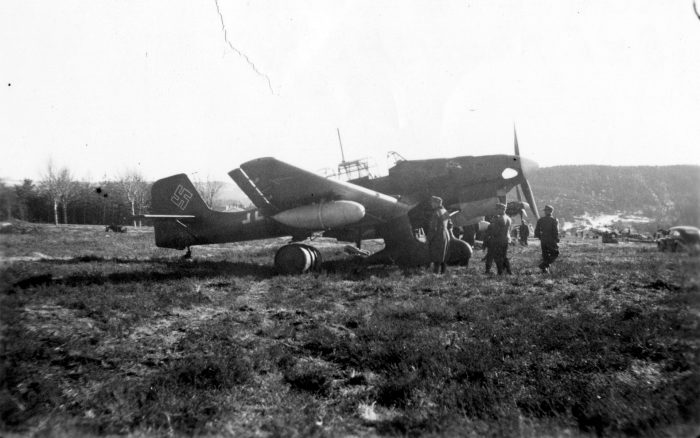 The Stuka's durable landing gear made it ideal for operating out of areas other aircraft simply couldn't. Image by Arkiv i Nordland CC BY-SA 2.0.